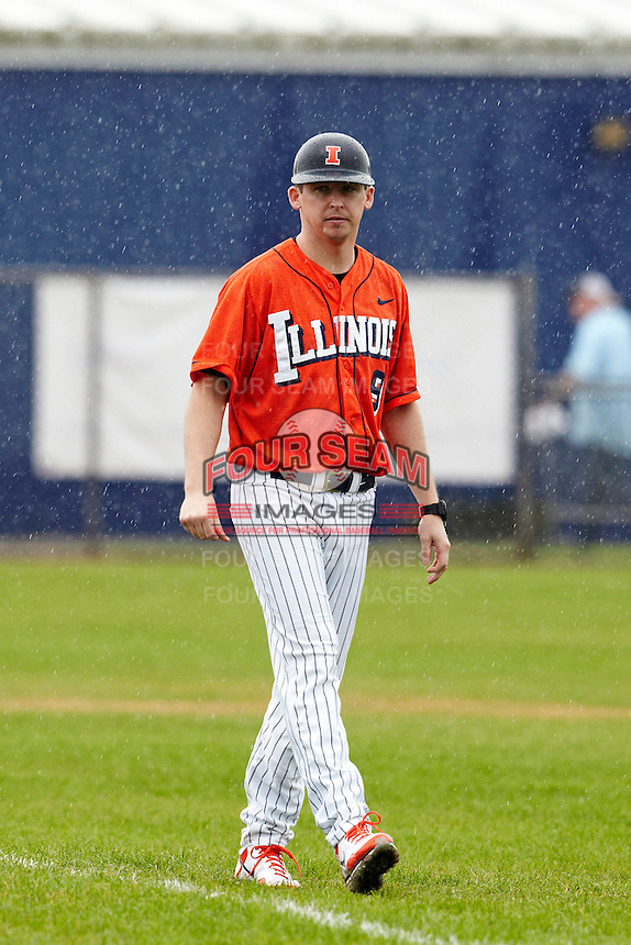 Illinois Fighting Illini assistant coach Jason Anderson #9 during a game against the Notre Dame Fighting Irish at the Big Ten/Big East Challenge at Walter Fuller Complex on February 17, 2012 in St. Petersburg, Florida.  (Mike Janes/Four Seam Images)