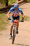 June 6, 2009:  US Mountain Bike Champion, Adam Craig, on his way to a 4th place finish in the Men's Pro Mountain Bike Race during the Teva Mountain Games, Vail, Colorado.
