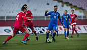27th March 2018, Karadjorde Stadium, Novi Sad, Serbia; Under 21 International Football Friendly, Serbia U21 versus Italy U21; Midfielder Rolando Mandragora of Italy breaks through covered by Nikola Milenkovic