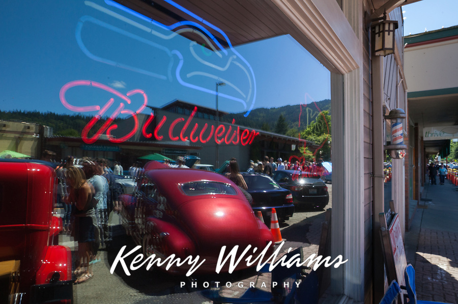 Fenders on Front Street, Vintage Car Show, Issaquah, Washington, USA.