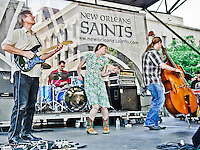 Gal Holiday and the Honky Tonk Revue playing at the YLC's Lafayette Square concert series in New Orleans, LA.
