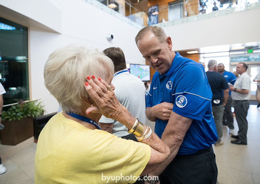 17FTB Media Day 1414<br /> <br /> 2017 BYU Football Media Day<br /> <br /> June 23, 2017<br /> <br /> Photo by Jaren Wilkey/BYU<br /> <br /> &copy; BYU PHOTO 2017<br /> All Rights Reserved<br /> photo@byu.edu  (801)422-7322