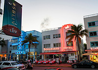 MIAMI, FL - JANUARY 28: General view of Ocean Av. near the FOX Sports South Beach studio compound on January 28, 2020 in Miami, USA. The Super Bowl XLIV will take place in the Hard Rock Stadium in Miami between the teams 49ers vs. Chiefs, and it will be played on Sunday, Feb. 2, 2020. (Photo by Eduardo MunozAlvarez/VIEWpress)