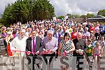 Big turn out at the opening of Piarsaigh na Dromoda  new extension on Sunday pictured front l-r; Fr John Keirn, Míchéal Ó Síocháin(Chairman), Dan Tim O'Sullivan, Suzanne Ní Laoighre(Treasurer) & Fr Padraig Sugrue.