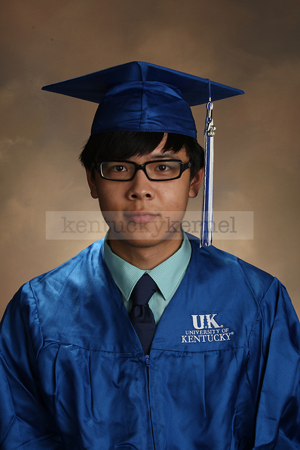 Huangfu, Youzhi graduation portrait taken at the fall Grad Salute at the University of Kentucky in Lexington, Ky., on 10/2/13.