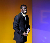 Prince Shembo Defensive Player of the Year during the football show The Echoes 2013 Friday Dec. 13, 2013 at the DeBartolo Performing Arts Center on the campus of the University of Notre Dame South Bend, Ind.(Photo by Joe Raymond)