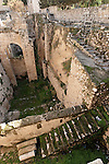 Israel, Jerusalem, The Pool of Bethesda - meaning House of Mercy was a rainwater reservoir during the Second Temple period<br />