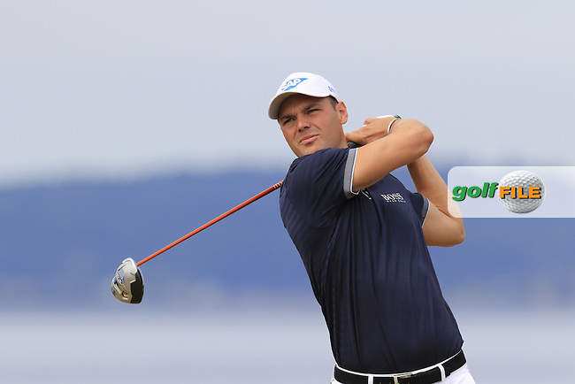 Martin Kaymer (GER) tees off the 18th tee during Thursday's Round 1 of the 2015 U.S. Open 115th National Championship held at Chambers Bay, Seattle, Washington, USA. 6/18/2015.<br /> Picture: Golffile | Eoin Clarke<br /> <br /> <br /> <br /> <br /> All photo usage must carry mandatory copyright credit (&copy; Golffile | Eoin Clarke)