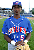 September 3, 2003:  Shortstop Eugene VanCamper (5) of the Auburn Doubledays, Class-A affiliate of the Toronto Blue Jays, during a game at Dwyer Stadium in Batavia, NY.  Photo by:  Mike Janes/Four Seam Images