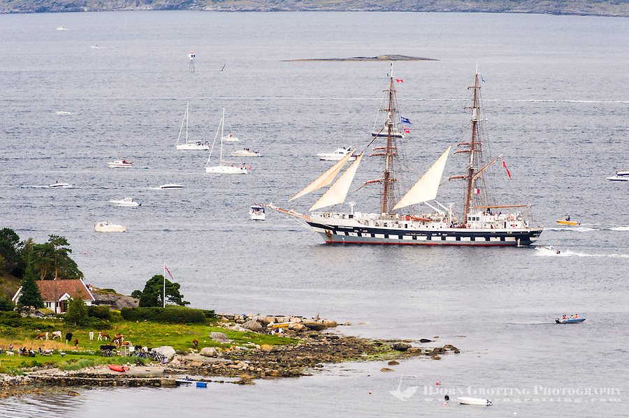 Norway, Randaberg. Tall Ships Race in Stavanger 2011. Goodbye, fare thee well! Stavros S Niarchos.