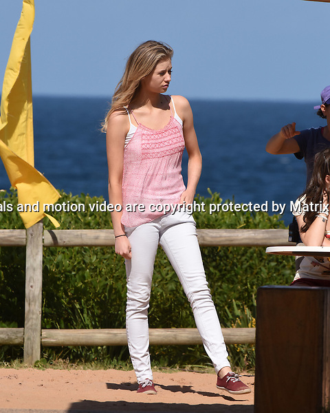 3 November, 2014 SYDNEY AUSTRALIA<br /> EXCLUSIVE <br /> Pictured, Kass Clementi and Alec Snow, cast member of Home and Away doing scenes at the North Palm Beach Surf Club, Palm Beach, NSW. <br /> <br /> *No internet without clearance*.MUST CALL PRIOR TO USE +61 2 9211-1088. Matrix Media Group.Note: All editorial images subject to the following: For editorial use only. Additional clearance required for commercial, wireless, internet or promotional use.Images may not be altered or modified. Matrix Media Group makes no representations or warranties regarding names, trademarks or logos appearing in the images.