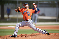 Houston Astros pitcher Parker Mushinski (41) during a Minor League Spring Training game against the St. Louis Cardinals on March 27, 2018 at the Roger Dean Stadium Complex in Jupiter, Florida.  (Mike Janes/Four Seam Images)