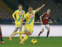 Gokhan Inler  durante l'incontro di calcio di Serie A  Napoli Milan allo  Stadio San Paolo  di Napoli , 08 Febbraio 2014<br /> Foto Ciro De Luca