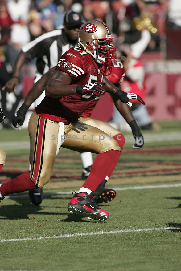TAKEO SPIKES, of the San Francisco 49ers  in action against the St. Louis Ram during the 49ers game in San Francisco, California on November 16, 2008..49ers win 35-16