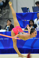 BARRANQUILLA - COLOMBIA, 30-07-2018:Lina Dussan  (COL) ,en  gimnasia rítmica .Juegos Centroamericanos y del Caribe Barranquilla 2018. / Lina Dussan  (COL) inrhythmic gymnastics of the Central American and Caribbean Sports Games Barranquilla 2018. Photo: VizzorImage /  Alfonso Cervantes /Contribuidor