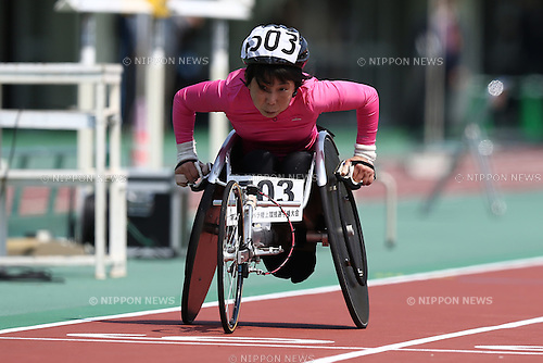 Teruyo Tanaka,<br /> APRIL 30, 2016 - Athletics :<br /> Japan Para Athletics Championships<br /> Women's 100m T52 Final<br /> at Coca Cola West Sports Park, Tottori, Japan.<br /> (Photo by Shingo Ito/AFLO SPORT)