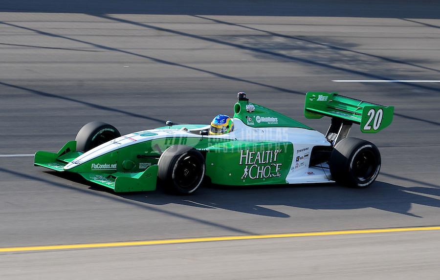 Jun. 20, 2008; Newton, IA, USA; Indy Light Series driver Ana Beatriz during qualifying for the Jeld Wen 100 at the Iowa Speedway. Mandatory Credit: Mark J. Rebilas-