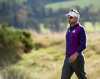 24.09.2014. Gleneagles, Auchterarder, Perthshire, Scotland.  The Ryder Cup.  Ian Poulter (EUR) on the 9th fairway during his practice round.
