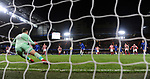 Willian of Chelsea scores his goal to make it 4-0 past Stoke City goalkeeper Jack Butland during the premier league match at Stamford Bridge Stadium, London. Picture date 30th December 2017. Picture credit should read: Robin Parker/Sportimage