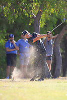 Thorbjorn Olesen (DEN) in action on the 18th during Round 2 of the ISPS Handa World Super 6 Perth at Lake Karrinyup Country Club on the Friday 9th February 2018.<br /> Picture:  Thos Caffrey / www.golffile.ie<br /> <br /> All photo usage must carry mandatory copyright credit (&copy; Golffile | Thos Caffrey)