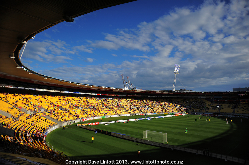 A general view of Westpac Stadium during the A-League football match between Wellington Phoenix and West Sydney Wanderers at Westpac Stadium, Wellington, New Zealand on Sunday, 1 December 2013. Photo: Dave Lintott / lintottphoto.co.nz
