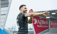 Picture by Allan McKenzie/SWpix.com - 07/04/2018 - Rugby League - Betfred Super League - Salford Red Devils v Warrington Wolves - AJ Bell Stadium, Salford, England - Warrington's Ryan Atkins thanks the fans for their support after victory over Salford.