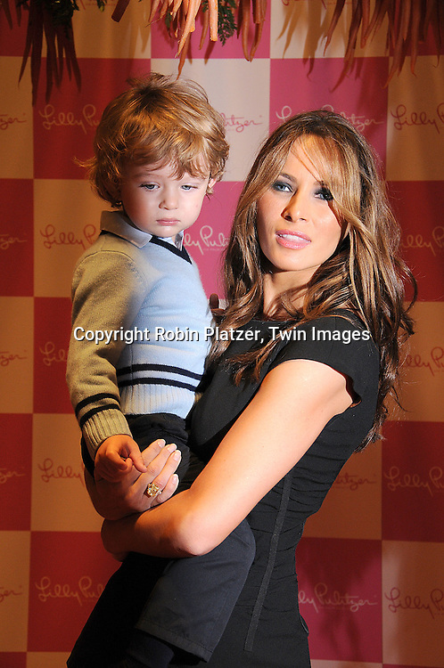 Melania Trump and Baron Trump.at The 17th Annual Bunny Hop at FAO Schwarz, hosted by The Society of Memorial Sloan Kettering Cancer Center and .sponsored by Lily Pulitzer on March 11, 2008..Robin Platzer, Twin Images