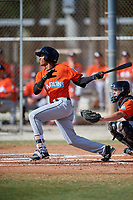 Miami Marlins Gerardo Nunez (57) during a Minor League Spring Training Intrasquad game on March 27, 2018 at the Roger Dean Stadium Complex in Jupiter, Florida.  (Mike Janes/Four Seam Images)