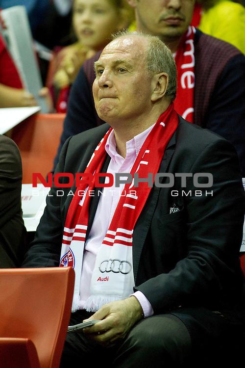 04.05.2013, Audi Dome, Muenchen, GER, BBL Play Off, FC Bayern Muenchen vs. Alba Berlin , im Bild Uli Hoeness (Praesident FC Bayern )  / Foto © nph / Straubmeier