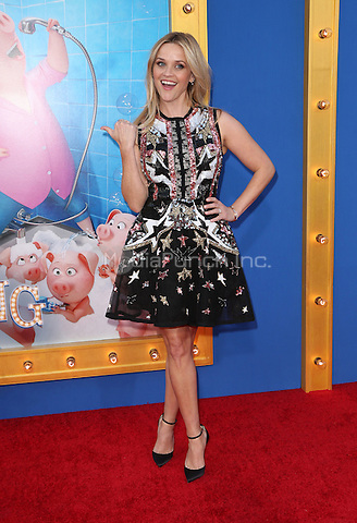 """Los Angeles, CA - DECEMBER 03: Reese Witherspoon, At Premiere Of Universal Pictures' """"Sing"""" At Pacific Theatres at the Microsoft Theater, California on December 03, 2016. Credit: Faye Sadou/MediaPunch"""