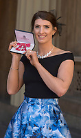 19 April 2017 - London, England - Bethany Firth. Investitures at Buckingham Palace. Photo Credit: Alpha Press/AdMedia