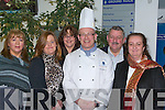 MEDITERRANEAN: Enjoying A Mediterranean Evening at the HCT Reataurant at the ITT North Campus, Tralee on Thursday evening. L-r: Eonnie O'Carroll,Clo Lyons,Kevin McCann(Master Chef), Sean Lyons and Caroline Smith. ..   Copyright Kerry's Eye 2008