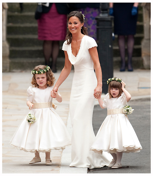 Sister of the bride and Maid of Honour Pippa Middleton arrives to attend the Royal Wedding of Prince William to Catherine Middleton at Westminster Abbey on April 29, 2011 in London, England..Tel: 07515 876520.e mail: info@kisforkate.com