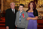 Dylan Connor with his granddad Richard and his mother Cheryl at Congress Avenue and Fatima Confirmation in St.Mary's Church...(Photo credit should read Jenny Matthews www.newsfile.ie)....This Picture has been sent you under the conditions enclosed by:.Newsfile Ltd..The Studio,.Millmount Abbey,.Drogheda,.Co Meath..Ireland..Tel: +353(0)41-9871240.Fax: +353(0)41-9871260.GSM: +353(0)86-2500958.email: pictures@newsfile.ie.www.newsfile.ie.
