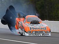 Mar 17, 2019; Gainesville, FL, USA; NHRA funny car driver Jonnie Lindberg during the Gatornationals at Gainesville Raceway. Mandatory Credit: Mark J. Rebilas-USA TODAY Sports