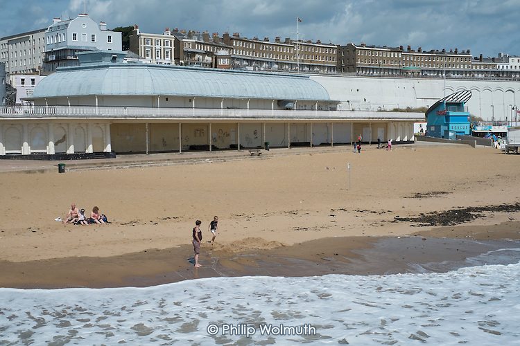 The beach in high season in Ramsgate, one of the five most deprived seaside towns in the UK.