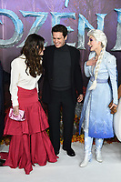 "LONDON, UK. November 17, 2019: Idina Menzel & Jonathan Groff arriving for the ""Frozen 2"" European premiere at the BFI South Bank, London.<br /> Picture: Steve Vas/Featureflash"