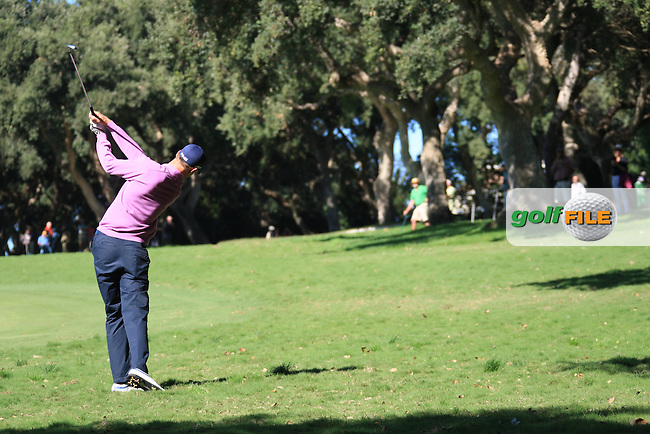 Rhys Davies (WAL) during the 2nd day at the  Andalucía Masters at Club de Golf Valderrama, Sotogrande, Spain. .Picture Fran Caffrey www.golffile.ie