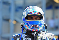 Apr. 15, 2012; Concord, NC, USA: NHRA top fuel dragster driver Antron Brown during the Four Wide Nationals at zMax Dragway. Mandatory Credit: Mark J. Rebilas-