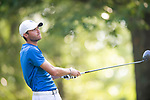 MUSCLE SHOALS, AL - MAY 25: West Florida's Christian Bosso watches his tee shot on No. 1 during the Division II Men's Team Match Play Golf Championship held at the Robert Trent Jones Golf Trail at the Shoals, Fighting Joe Course on May 25, 2018 in Muscle Shoals, Alabama. Lynn defeated West Florida 3-2 to win the national title. (Photo by Cliff Williams/NCAA Photos via Getty Images)