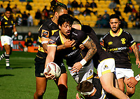 Ben Lam looks for support during the Mitre 10 Cup rugby match between Wellington Lions and Taranaki at Westpac Stadium in Wellington, New Zealand on Saturday, 27 August 2016. Photo: Mike Moran / lintottphoto.co.nz