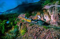 The Durango-Silverton Narrow Gauge train near Rockwood, Colorado