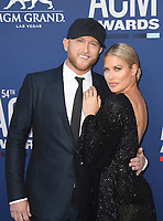 LAS VEGAS, NV - APRIL 7: Cole Swindell and Barbie Blank attend the 54th Annual ACM Awards at the Grand Garden Arena on April 7, 2019 in Las Vegas, Nevada. <br /> CAP/MPIIS<br /> &copy;MPIIS/Capital Pictures