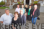 Members of Tralee town council who are shocked the GAA County Board didn't contact Tralee about proposals to site the new GAA Museum at the Ashe Hall. Front l-r: Cllrs Pat Hussey, Gillian Wharton Slattery and Sammy Locke. Back l-r: Cllrs Dan Galvin, Mairead Fernane, Toireasa Ferris, Norma Foley and Johnny Wall.