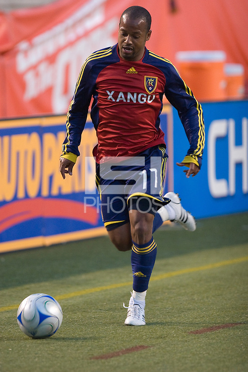Real Salt Lake MF Andy Williams in the Real Salt Lake 3-1 win over San Jose Earthquakes on May 31, 2008 at Rice-Eccles Stadium in Salt Lake City, Utah