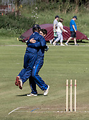 Cricket Scotland - the Citylets Scottish Cup Final between Carlton CC V Heriots CC at Meikleriggs, Paisley (Ferguslie CC) - Heriots celebrate a stumping - picture by Donald MacLeod - 25.08.19 - 07702 319 738 - clanmacleod@btinternet.com - www.donald-macleod.com
