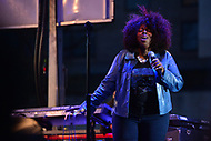 Washington, DC - April 14, 2018: Award winning R&B singer Angie Stone performs at Freedom Plaza in Washington, D.C. during the city's Emancipation Day celebration April 14, 2018. Smollett is known for his role as Jamal Lyon on the television series 'Empire.' (Photo by Don Baxter/Media Images International)