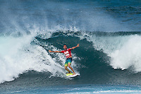 BANZAI PIPELINE, Oahu/Hawaii (Saturday, December 10, 2011) Joel Parkinson (AUS)  – Kieren Perrow (AUS), 34, has won his inaugural ASP World Tour event, taking out the Billabong Pipe Masters in Memory of Andy Irons over fellow countrymen Joel Parkinson (AUS), 30, in four-to-six foot waves. John John Florence (HAW), 19, also found his way to the podium as the overall winner of the 2011 Vans Triple Crown...Perrow, who finished runner-up to Jeremy Flores (FRA), 23, in last year's Billabong Pipe Masters, returned to form again this year and charged the massive Pipeline conditions on the opening two days of competition to solidify his position on the 2012 ASP World Tour. The Australian was equally deadly in the smaller conditions on the final day and commanded the Final against Parkinson in a backdoor shootout to secure his maiden ASP World Tour victory...John John Florence put on an amazing show at this year's Billabong Pipe Masters, taking the event's only two perfect 10-point rides,  but fell to Slater in the Quarterfinals. Florence's overall effort including a win at the Vans World Cup of Surfing at Sunset Beach and a 5th place at the Reef Hawaiian Pro secured his first Vans Triple Crown win, making him the youngest competitor in history to win the prestigious series.  Photo: joliphotos.com