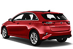 Car pictures of rear three quarter view of 2019 KIA Ceed Fusion Door Hatchback Angular Rear