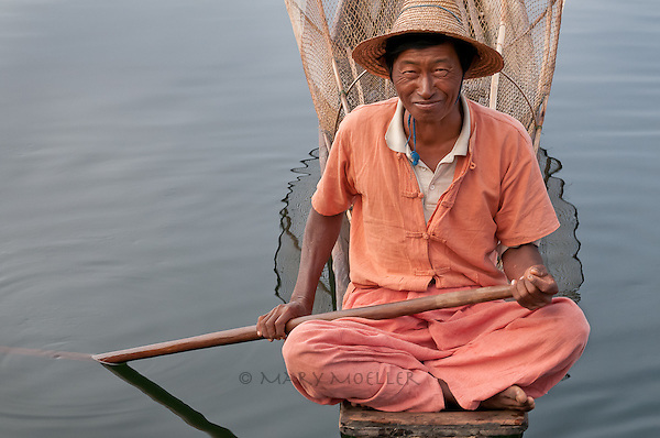 And then this fisherman floated quietly near me and smiled<br /> Inle Lake, Myanmar 12/2011